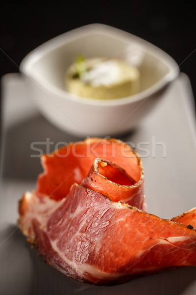 Close up of prosciutto Stock photo © grafvision