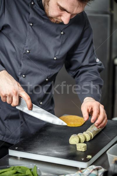 Chef beurre noir planche à découper déjeuner Photo stock © grafvision