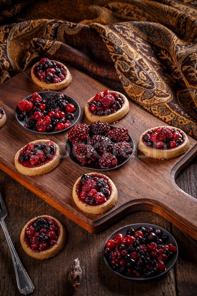 Delicioso Berry frutas mini frutas fondo Foto stock © grafvision