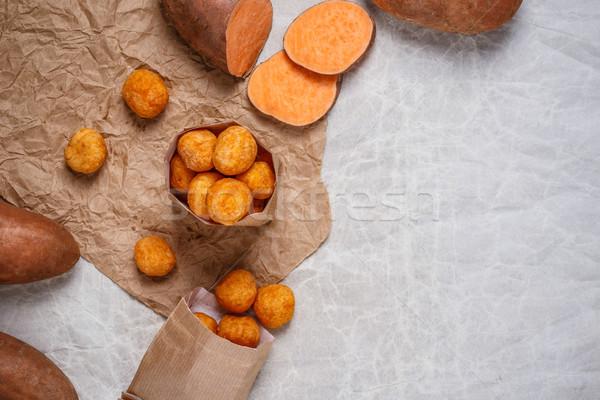 Tatlı patates uzay gıda arka plan Stok fotoğraf © grafvision