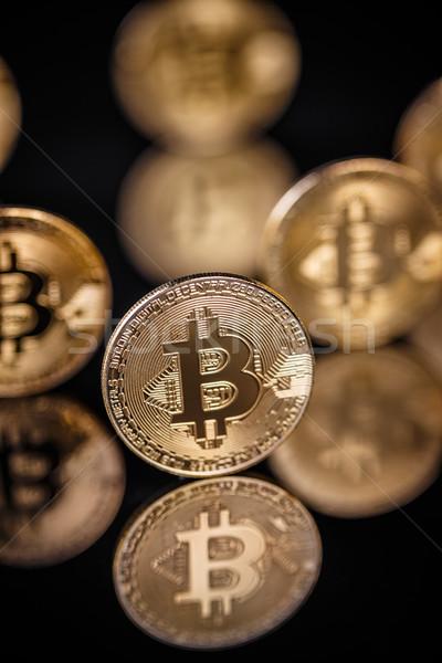 Virtuale valuta bitcoin business soldi sfondo Foto d'archivio © grafvision