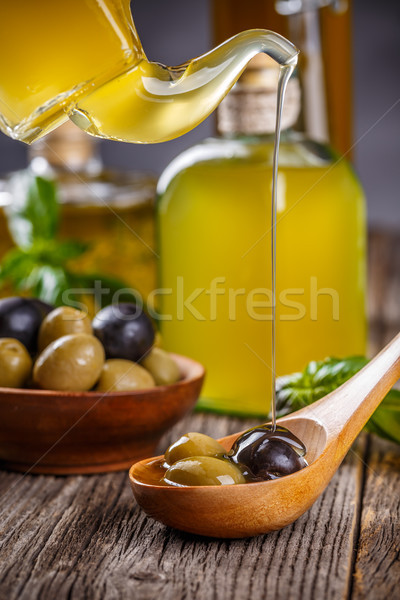 Black and green olives Stock photo © grafvision