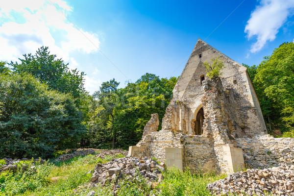 Церкви монастырь руин небе здании стены Сток-фото © grafvision