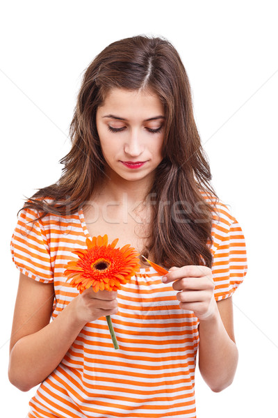 Girl whit flower Stock photo © grafvision