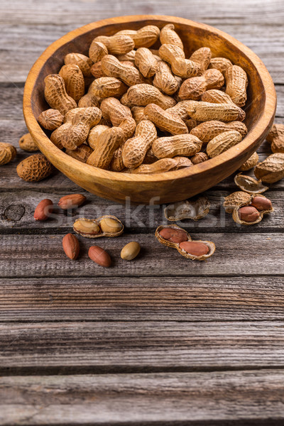 Unshelled peanuts Stock photo © grafvision