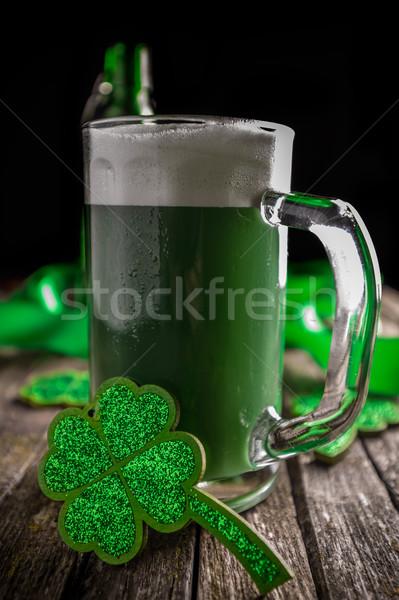 Dia de São Patricio férias celebração sortudo trevo verde Foto stock © grafvision