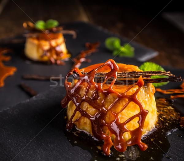 Caramel pudding Stock photo © grafvision