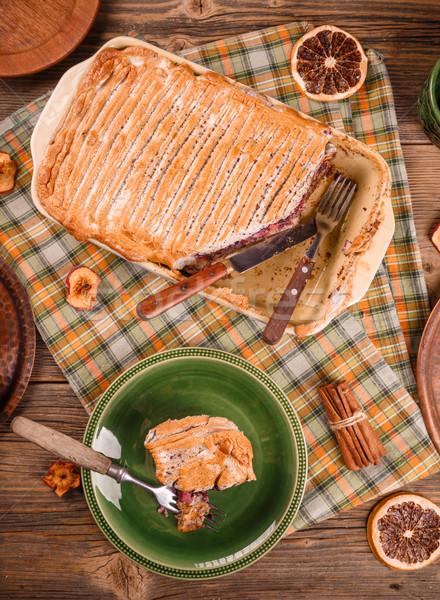Freshly baked bread pudding  Stock photo © grafvision