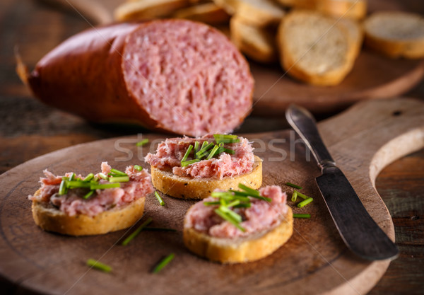 Bruschetta topped with teewurst  Stock photo © grafvision