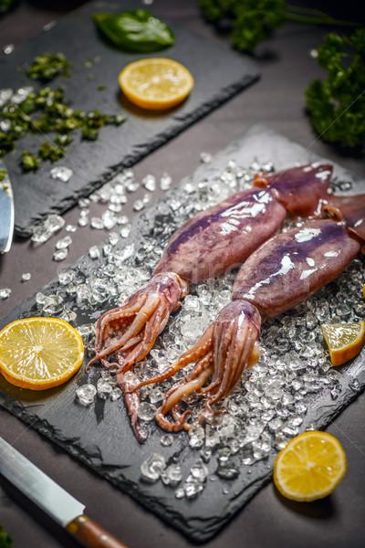 Fresh cuttlefish  Stock photo © grafvision