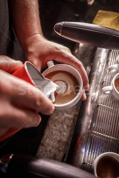 Latte art Stock photo © grafvision