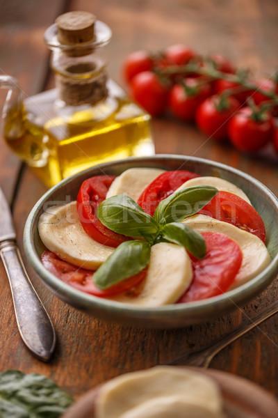 カプレーゼサラダ トマト チーズ ストックフォト © grafvision