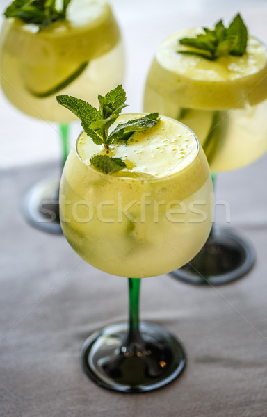 Cocktails with lime, elderflower syrup and ice  Stock photo © grafvision