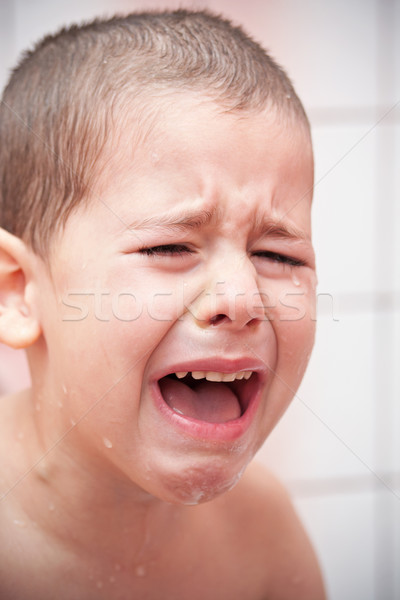 crying boy Stock photo © grafvision
