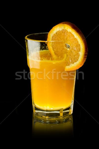 Sinaasappelsap glas zwarte voedsel zomer kleur Stockfoto © grafvision