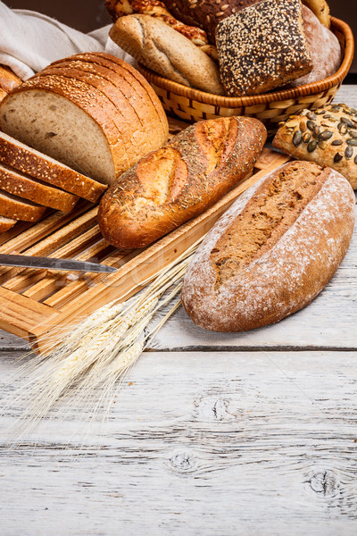 Sliced wholemeal bread  Stock photo © grafvision