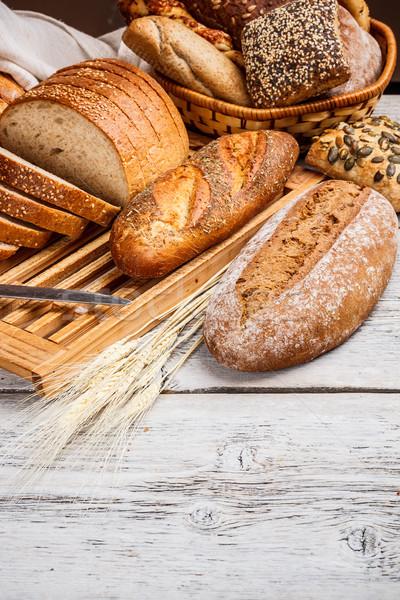 Stock photo: Sliced wholemeal bread