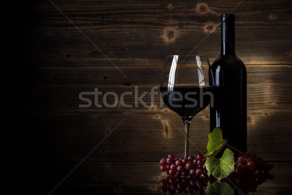 Glass of red wine Stock photo © grafvision