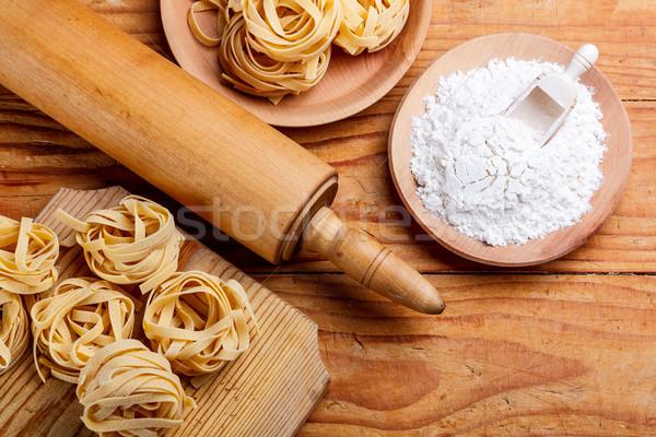 скалка пасты разделочная доска мучной кухне таблице Сток-фото © grafvision