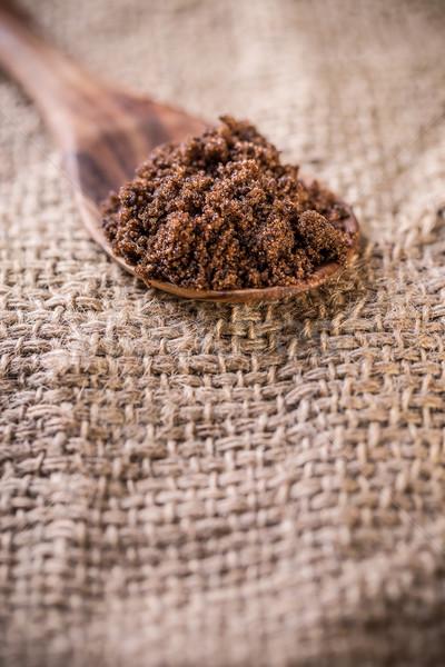 Buio zucchero natura sfondo cucchiaio Foto d'archivio © grafvision