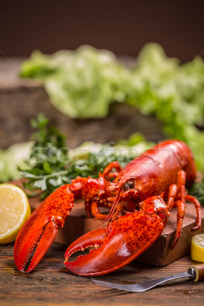 Lagosta vermelho inteiro grande jantar Foto stock © grafvision