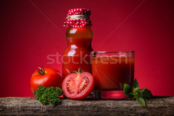 トマトジュース おいしい トマト ガラス ドリンク トマト ストックフォト © grafvision