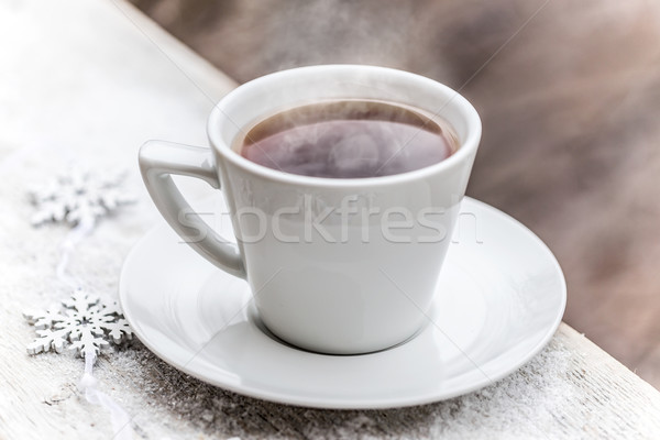 Hot tea in the cup Stock photo © grafvision