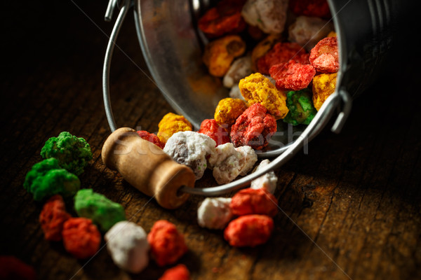 Hazelnoot kleurrijk suiker knapperig snoep voedsel Stockfoto © grafvision