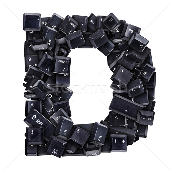 Stock photo: Letter D made of keyboard buttons