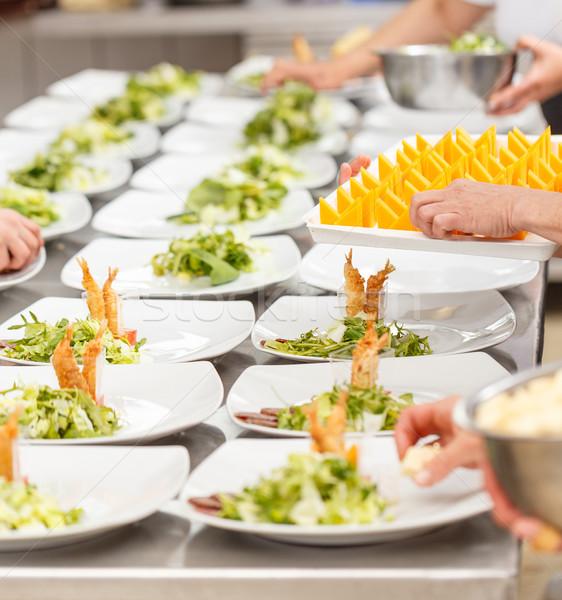 Delicioso aperitivo placas preparado restaurante cocina Foto stock © grafvision