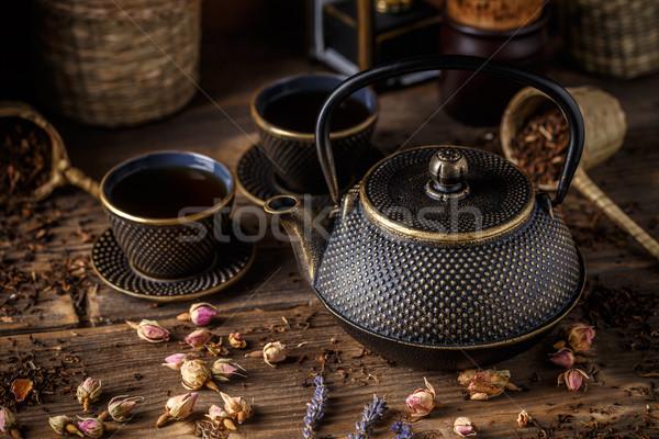 Cast iron teapot  Stock photo © grafvision