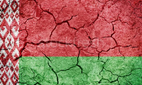 Cumhuriyet Belarus bayrak kuru toprak zemin Stok fotoğraf © grafvision