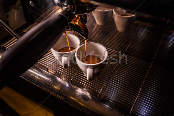 Brewing two espresso's Stock photo © grafvision