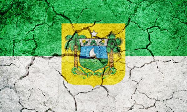 Rio Brazilië vlag drogen aarde grond Stockfoto © grafvision