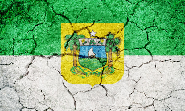 Rio Brezilya bayrak kuru toprak zemin Stok fotoğraf © grafvision