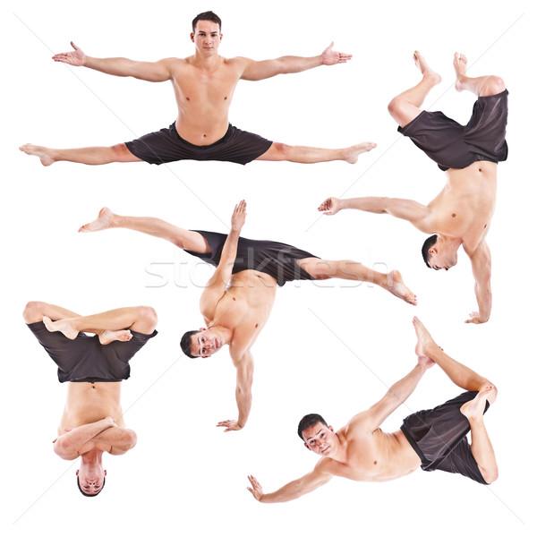 Homme acrobatie gymnastique jeune homme isolé Photo stock © grafvision