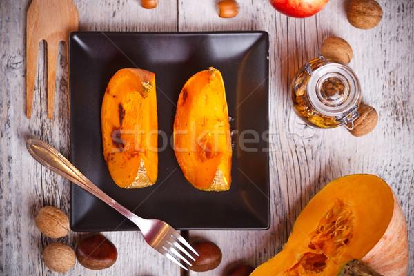 Baked pumpkin slices Stock photo © grafvision