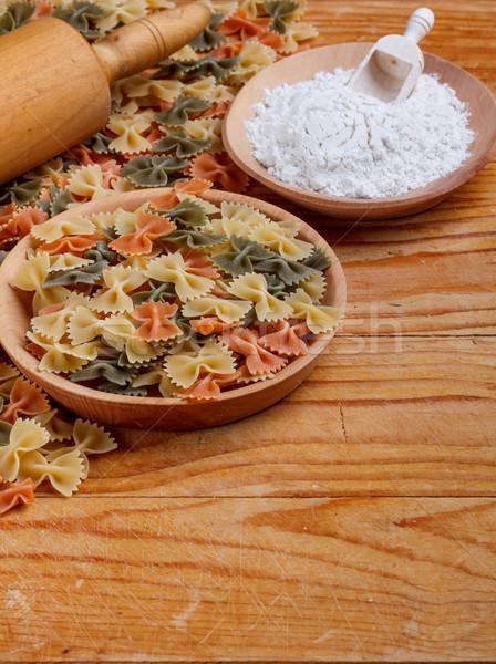 Bowl of farfalle pasta  Stock photo © grafvision