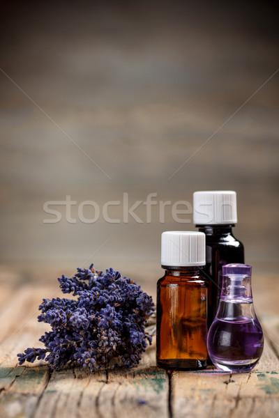 Aromaterapia Óleo lavanda flor massagem estância termal Foto stock © grafvision