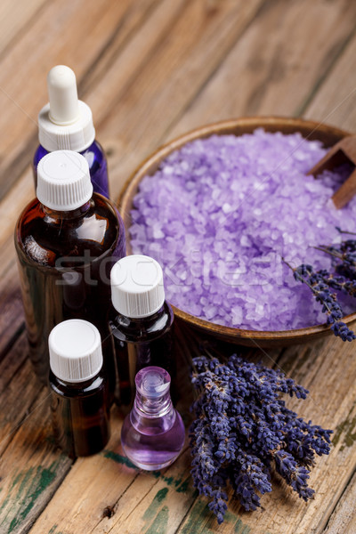 Lavanta aromaterapi ahşap sağlık banyo güzel Stok fotoğraf © grafvision