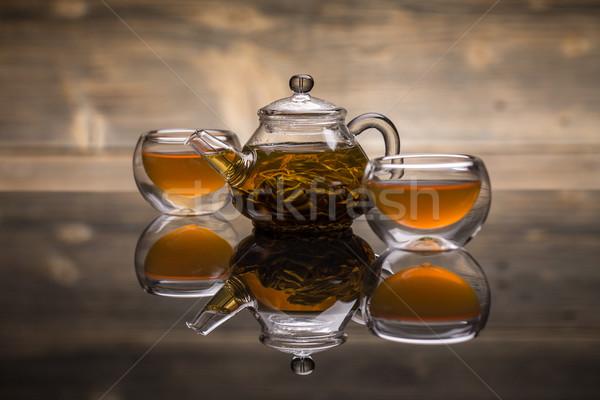 茶 小 ボウル ポット ストックフォト © grafvision