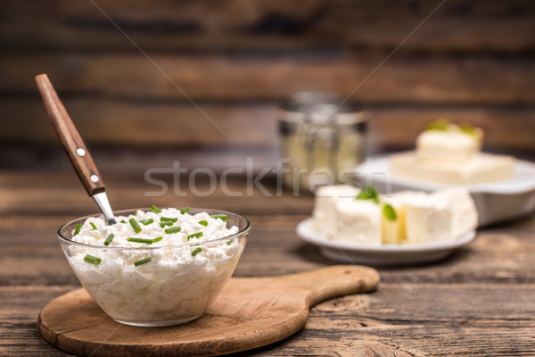 Fresh cottage cheese Stock photo © grafvision