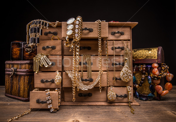 Vintage jewellery box Stock photo © grafvision