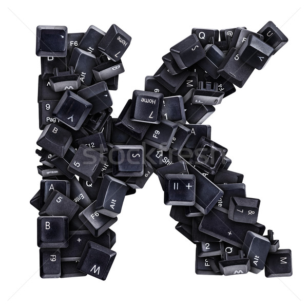 Letter K made of keyboard buttons Stock photo © grafvision