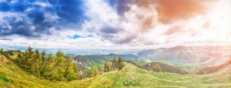 Panorama view mountain Stock photo © grafvision
