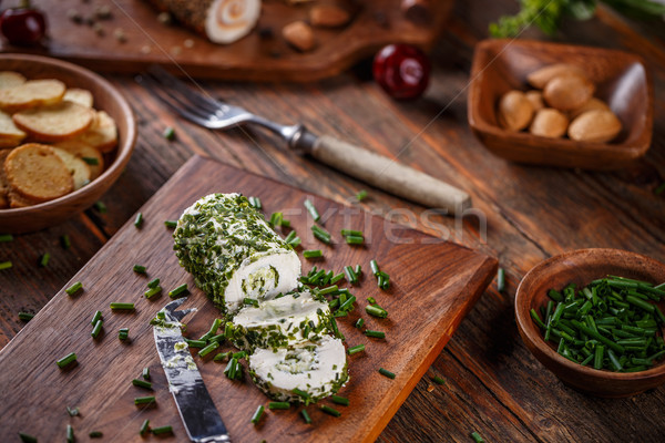 Soft cheeses rolled in herbs Stock photo © grafvision