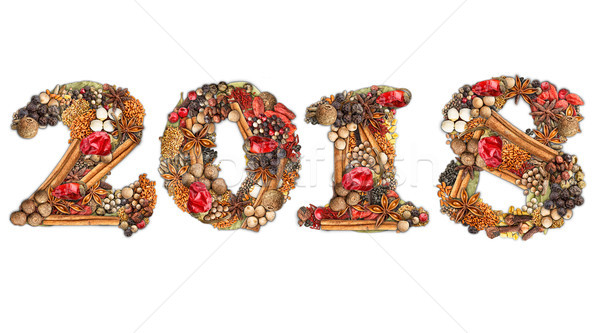 2018 made of spices Stock photo © grafvision