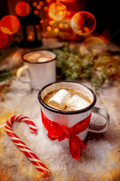 Stock photo: Hot chocolate with marshmallows