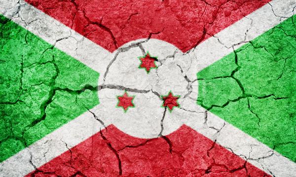 Foto stock: República · Burundi · bandeira · secar · terra · terreno