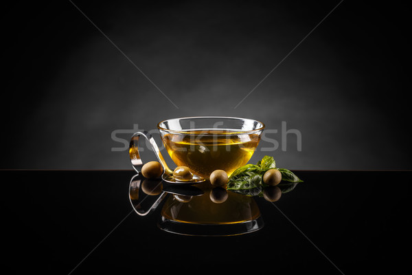 Olive oil and olives  Stock photo © grafvision